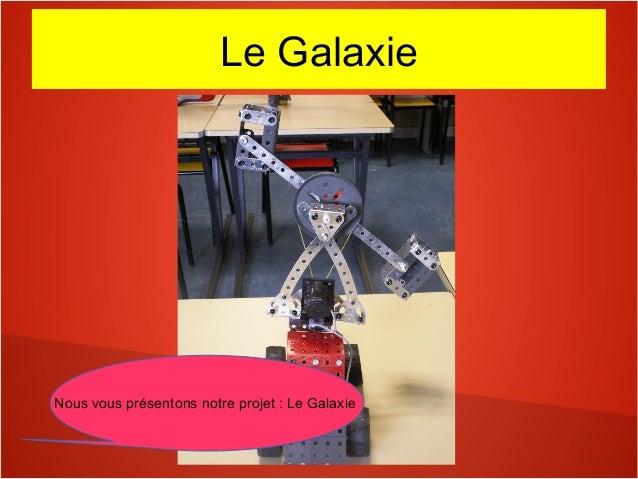 Le Galaxie Nous vous présentons notre projet : Le Galaxie