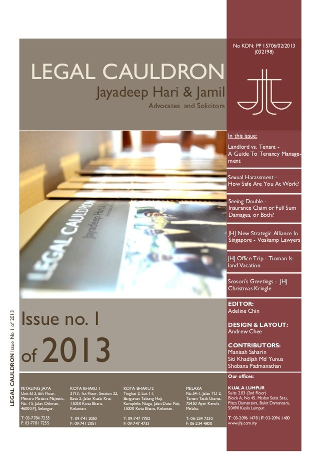 Legal cauldron 1 of 2013
