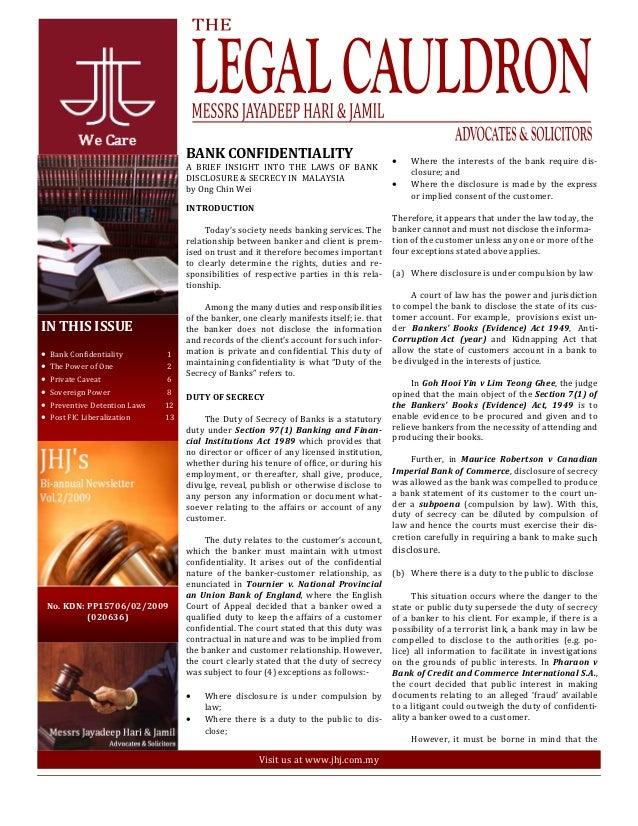 Legal Cauldron issue  2 of 2009