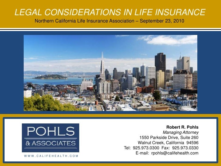 Legal Considerations In Life Insurance (2010 09 23)