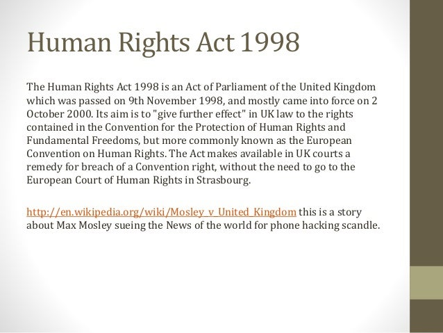 essays on human rights act 1998 Constitutional review under the uk human rights act (cambridge: cambridge  university press,  6 sceptical essays, n 5 above  98/25 (february 1998).