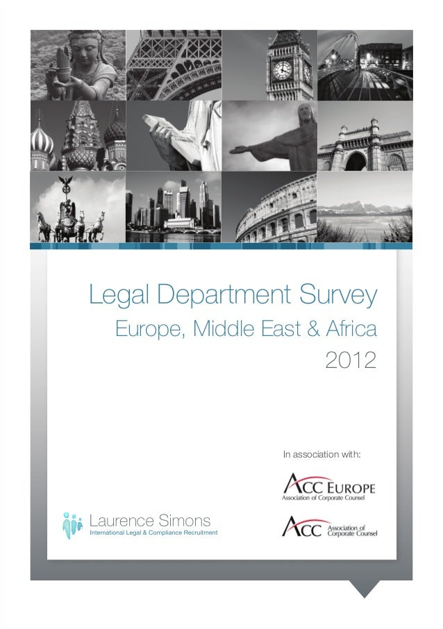 Legal department survey 2012. europe, middle east & africa