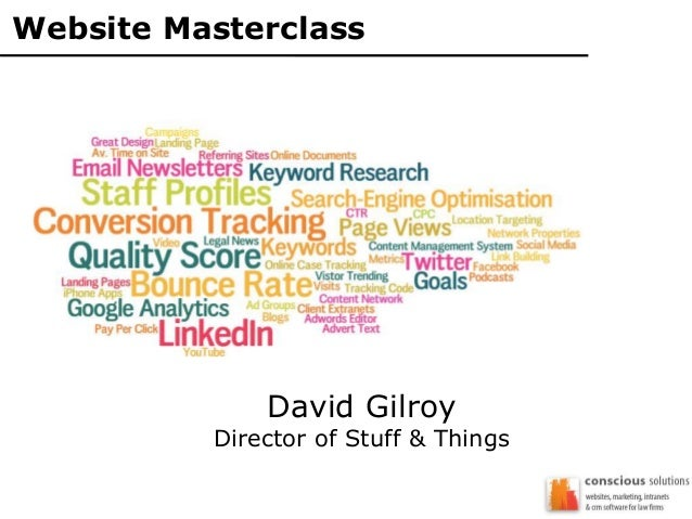 Website Masterclass David Gilroy Director of Stuff & Things