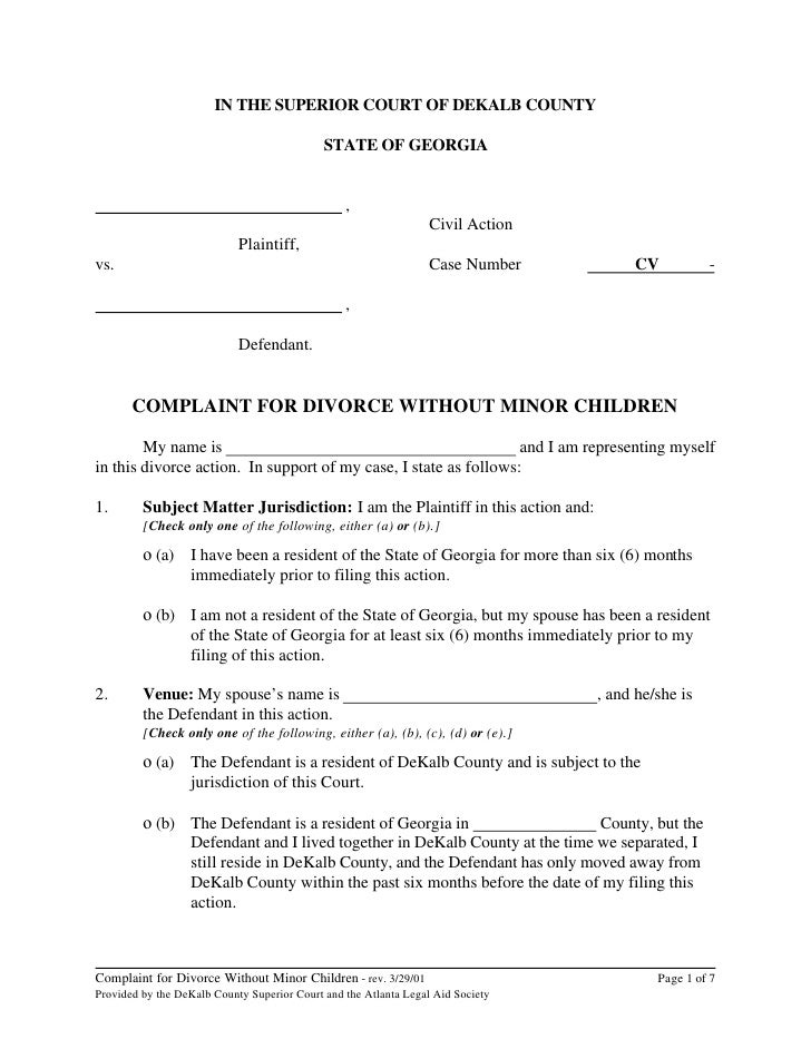 printable divorce decree