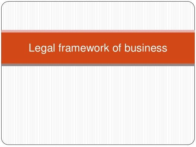 Legal framework of business