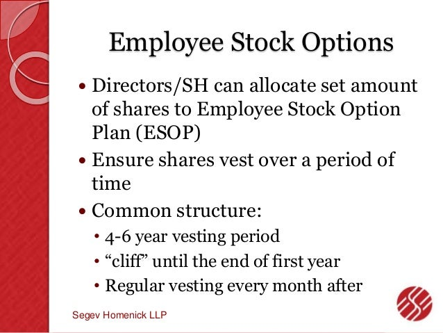 Employee stock options shares