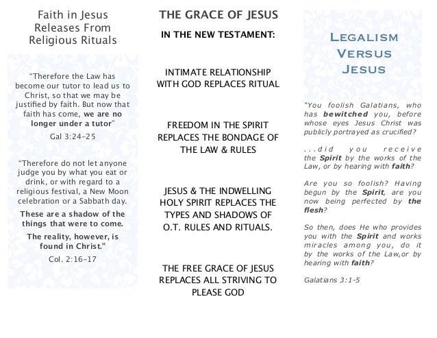 Legalism VS Jesus Brochure