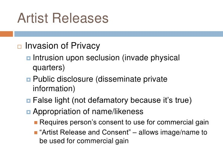 Invasion Of Privacy Appropriation