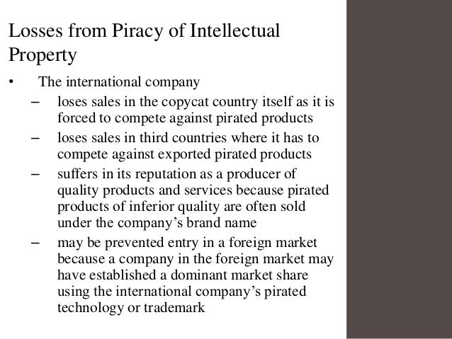 How does piracy of intellectual property affect society?