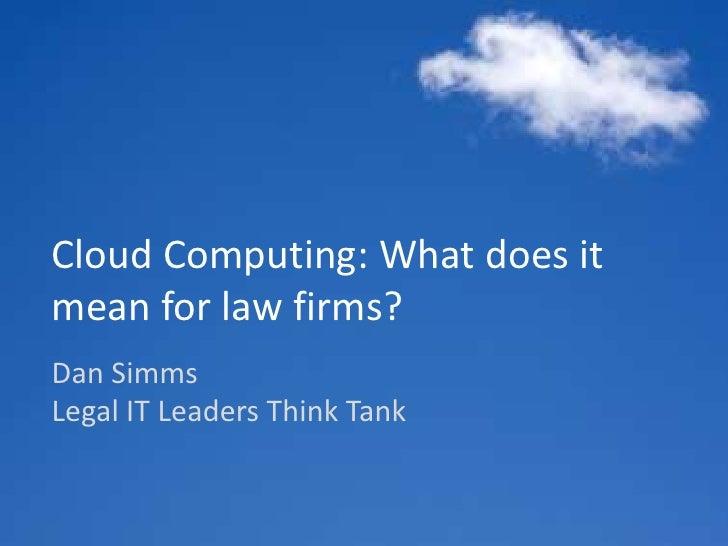 Legal IT Leaders Think Tank