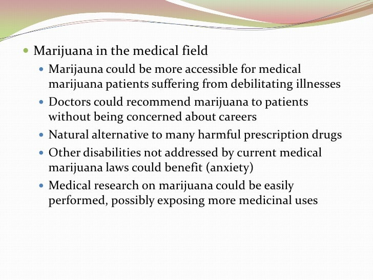 Medical marijuana essay