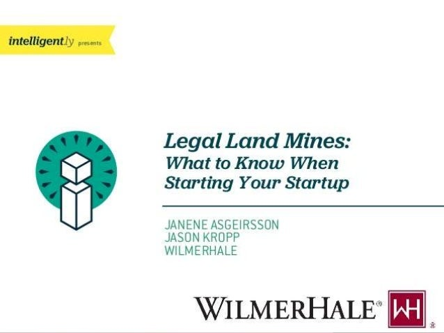 Legal Land Mines: What to Know When Starting Your Startup