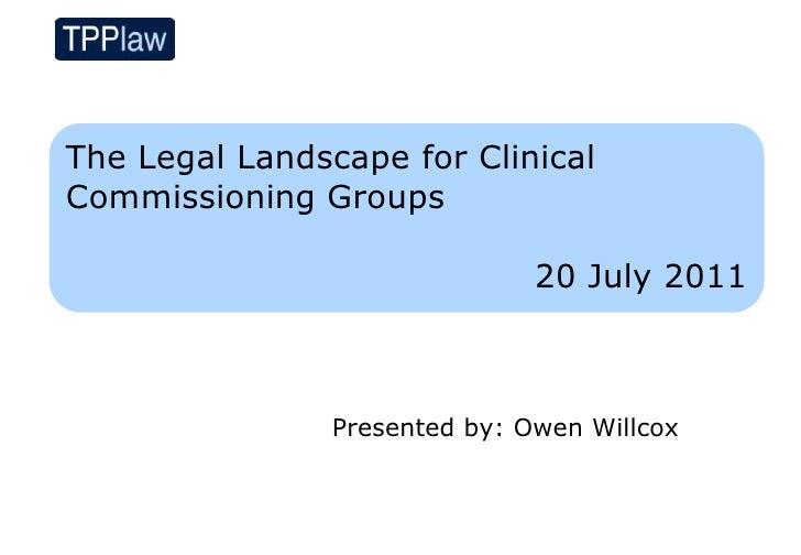 Legal landscapes for cc gs 20.07.11