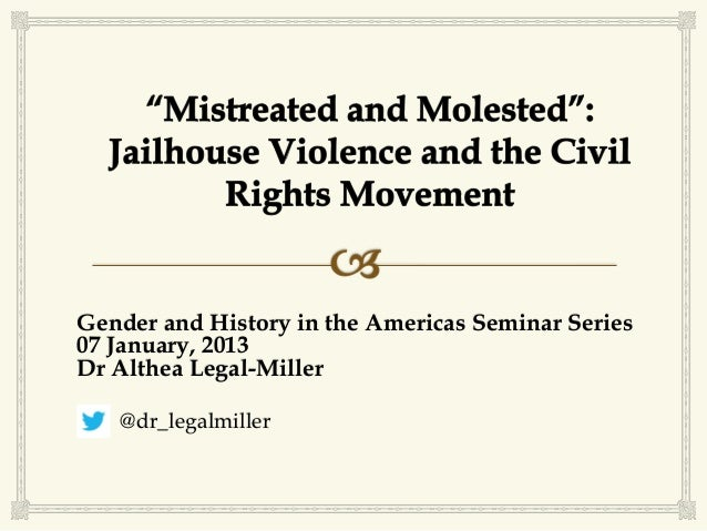 Gender and History in the Americas Seminar Series07 January, 2013Dr Althea Legal-Miller   @dr_legalmiller