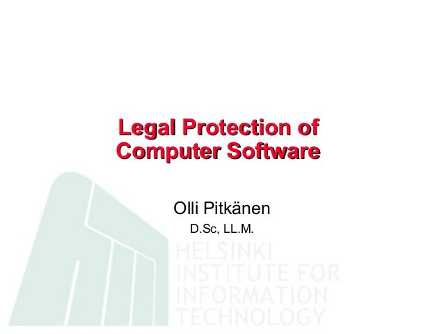 Legal protection of computer software