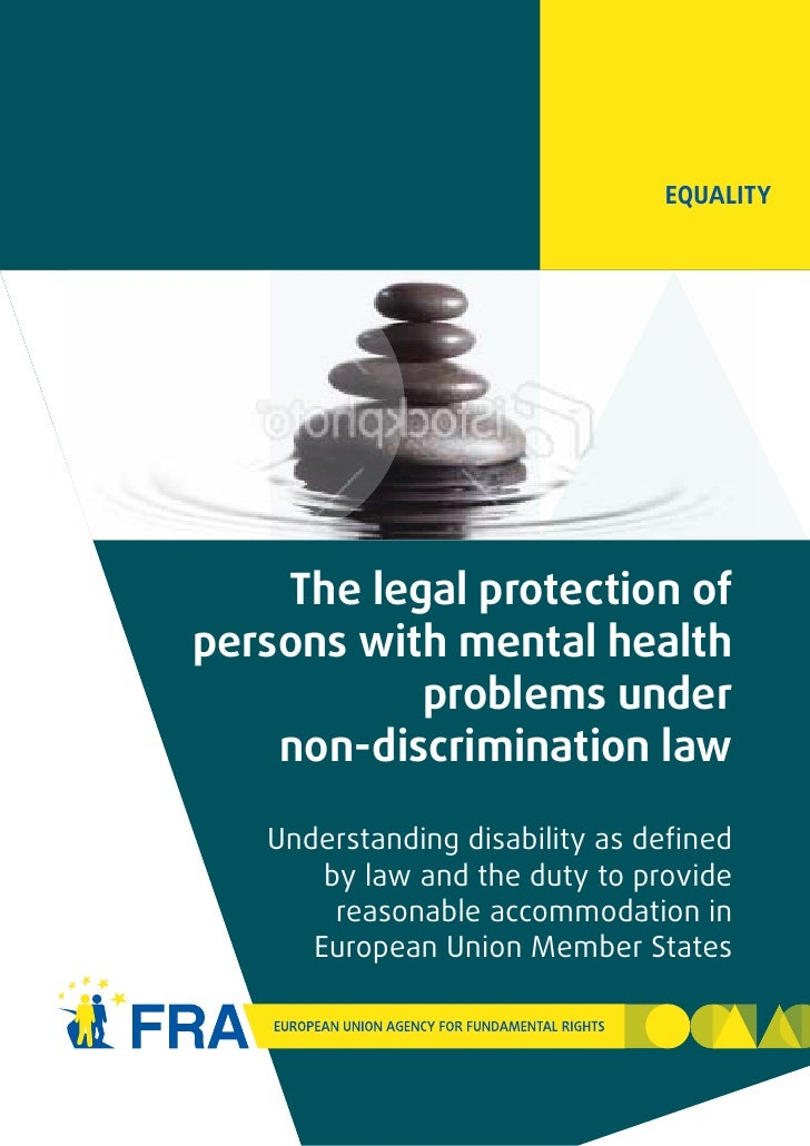 Legal Protection of Persons with Mental Health problems