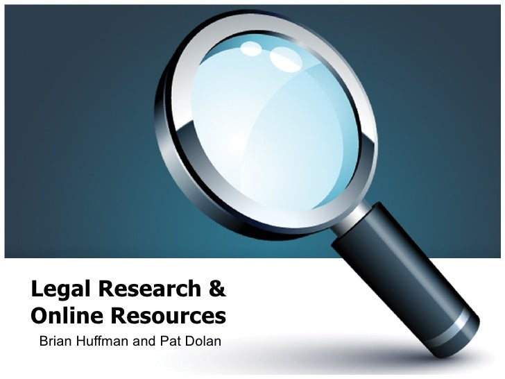 Legal Research & Fed. Legal Resources