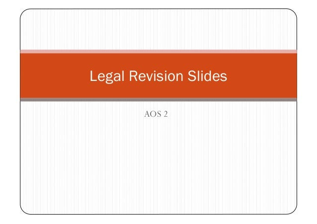 Legal revision slides aos 2