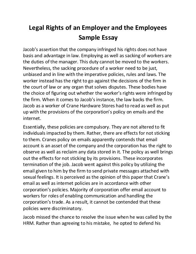 Individual rights essay