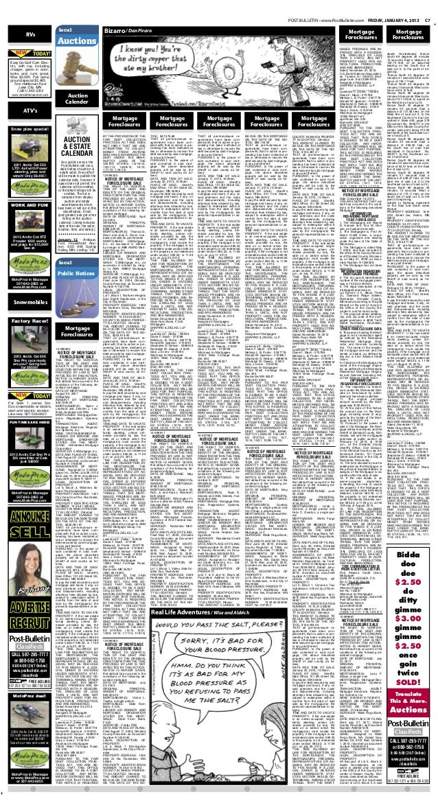 Public notices for Jan. 4, 2012