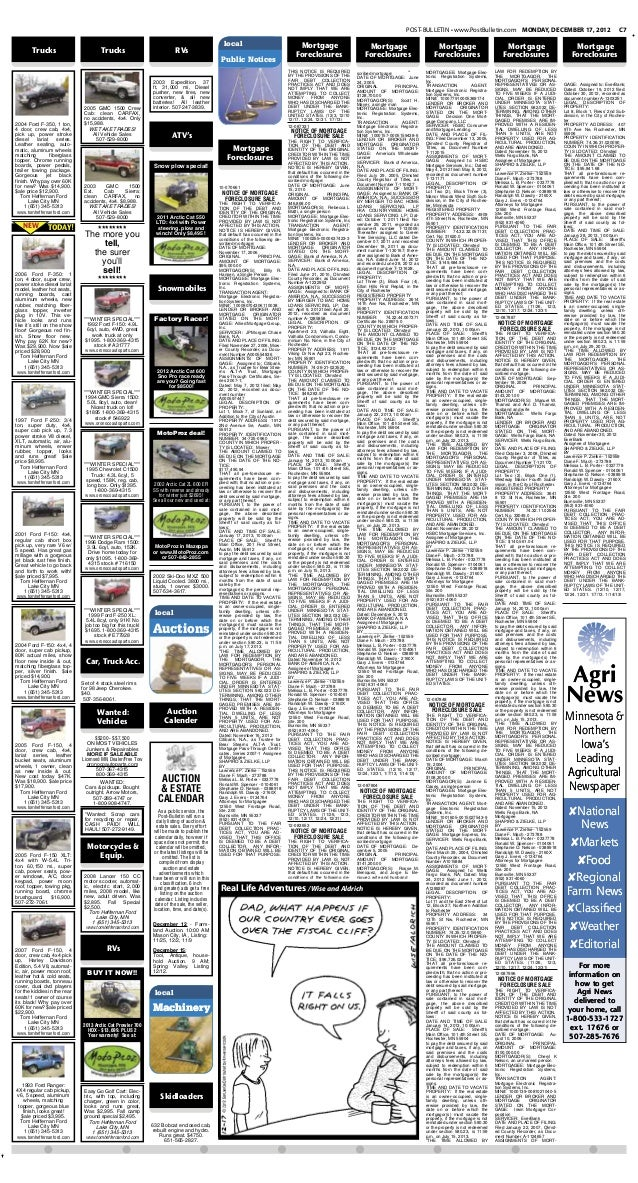 POST-BULLETIN • www.PostBulletin.com MONDAY, DECEMBER 17, 2012                                                    C7      ...