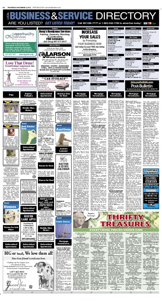 Public notices for Dec. 6, 2012