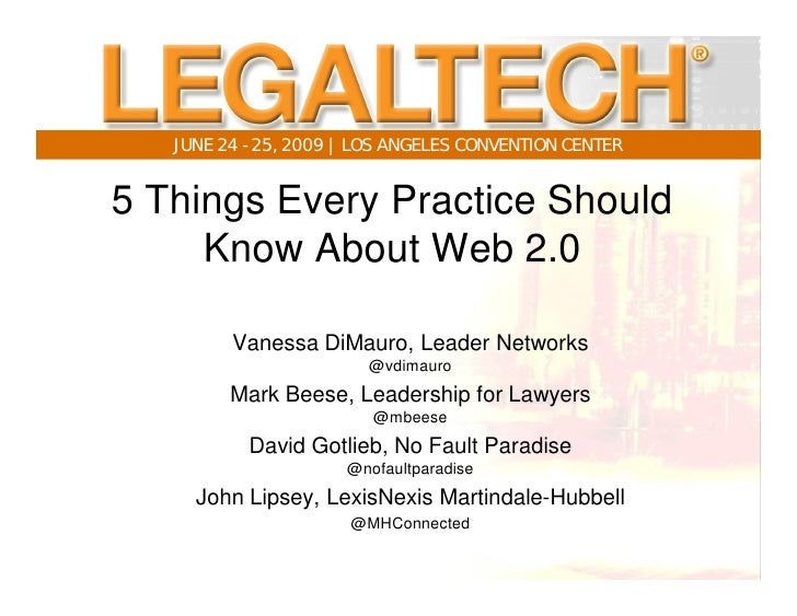 Legal Tech 2009 Social Media Presentation