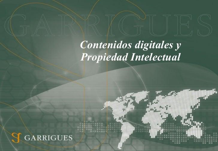 Contenidos digitales y propiedad intelectual