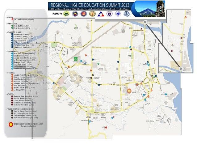 Legazpi city Hotels Map