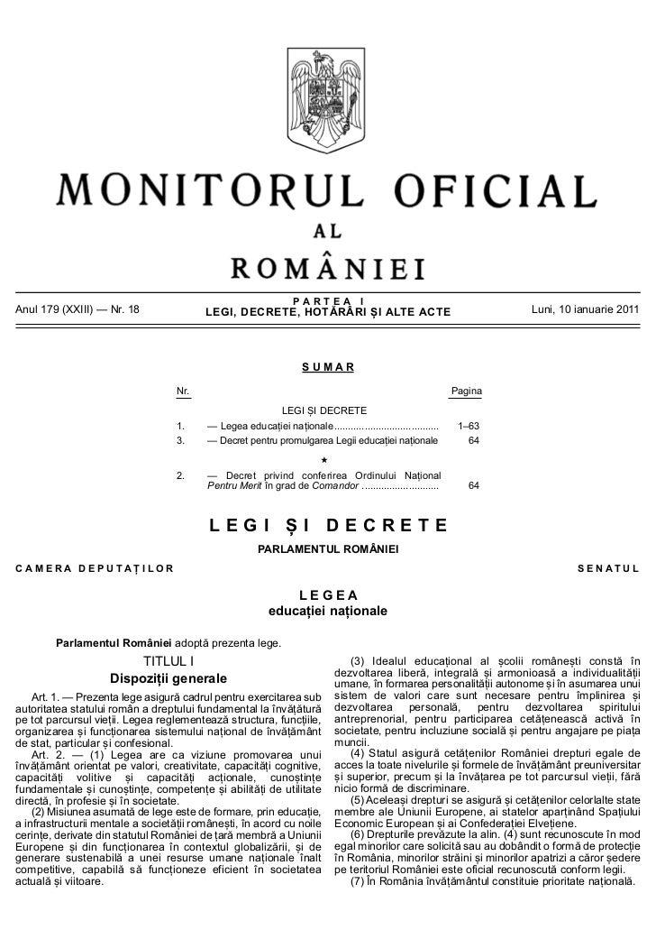 PARTEA IAnul 179 (XXIII) — Nr. 18                LEGI, DECRETE, HOTĂRÂRI ȘI ALTE ACTE                                     ...