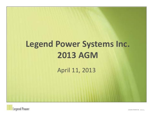Legend 2013 agm april 11