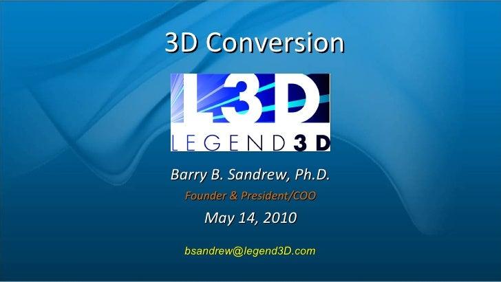 Legend Films Barry Sandrew