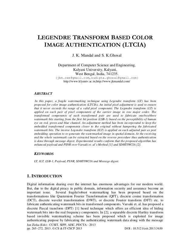 Jan Zizka (Eds) : CCSIT, SIPP, AISC, PDCTA - 2013 pp. 265–272, 2013. © CS & IT-CSCP 2013 DOI : 10.5121/csit.2013.3630 LEGE...