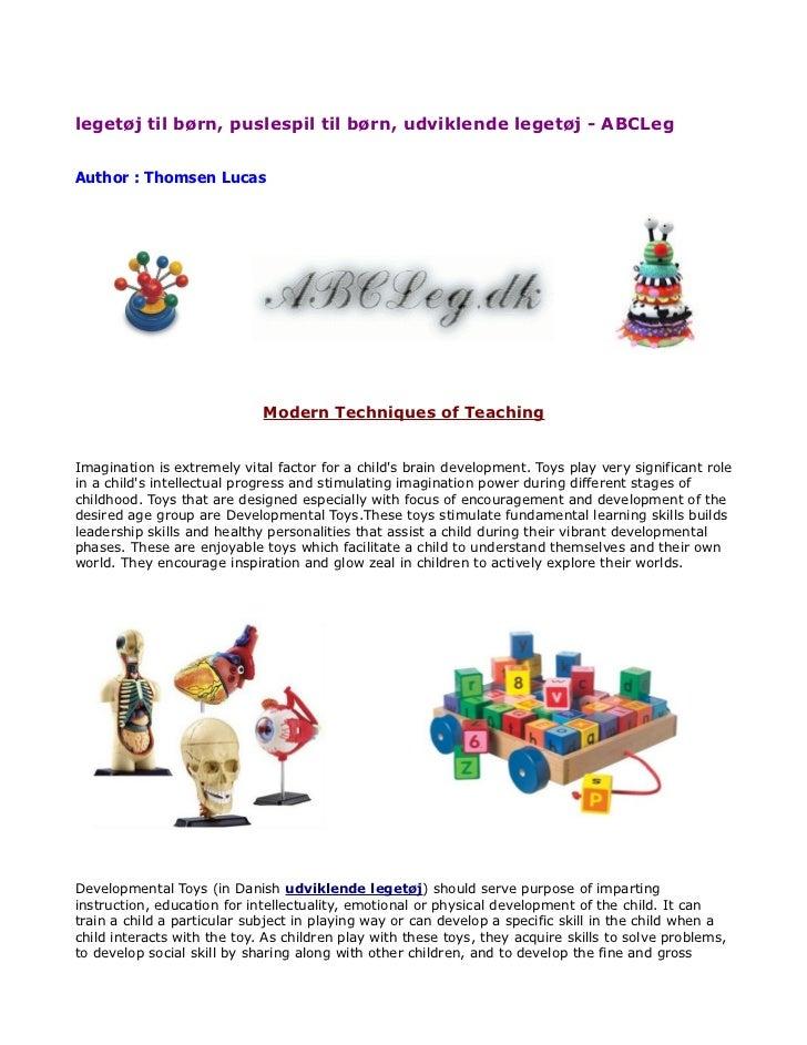 legetøj til børn, puslespil til børn, udviklende legetøj - ABCLegAuthor : Thomsen Lucas                             Modern...