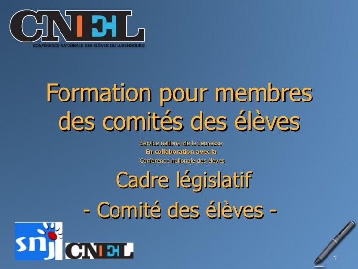 Legislative Schüler-Commitée + Délégué de classes