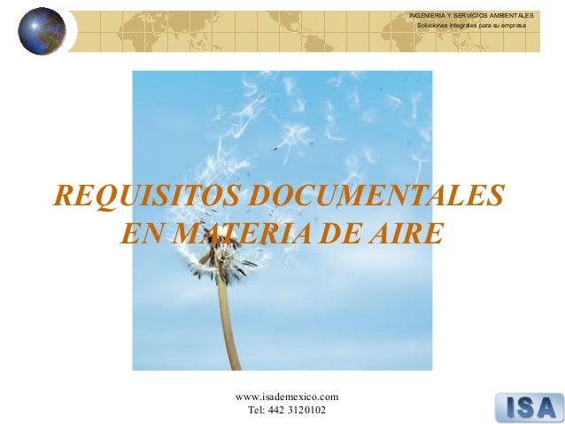 Legislacion en medio ambiente modulo 4 aire