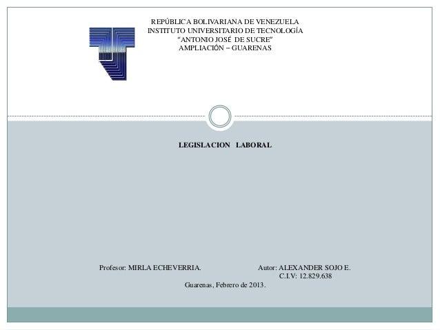 """REPÚBLICA BOLIVARIANA DE VENEZUELA            INSTITUTO UNIVERSITARIO DE TECNOLOGÍA                   """"ANTONIO JOSÉ DE SUC..."""