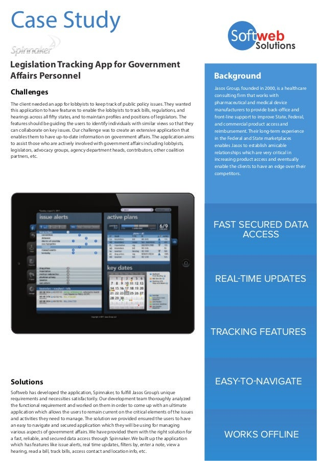 FAST SECURED DATA ACCESS REAL-TIME UPDATES TRACKING FEATURES EASY-TO-NAVIGATE WORKS OFFLINE Background Jasos Group, founde...