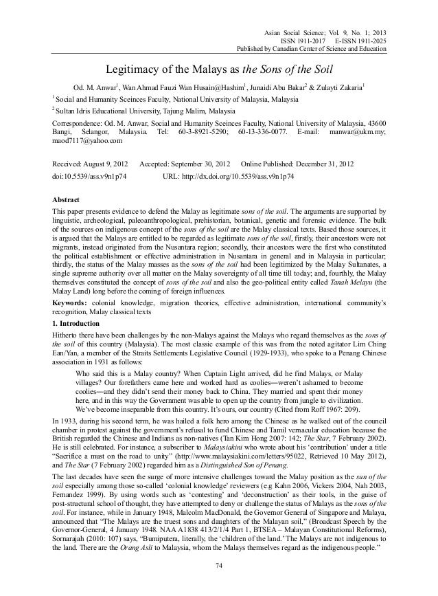 Asian Social Science; Vol. 9, No. 1; 2013 ISSN 1911-2017 E-ISSN 1911-2025 Published by Canadian Center of Science and Educ...