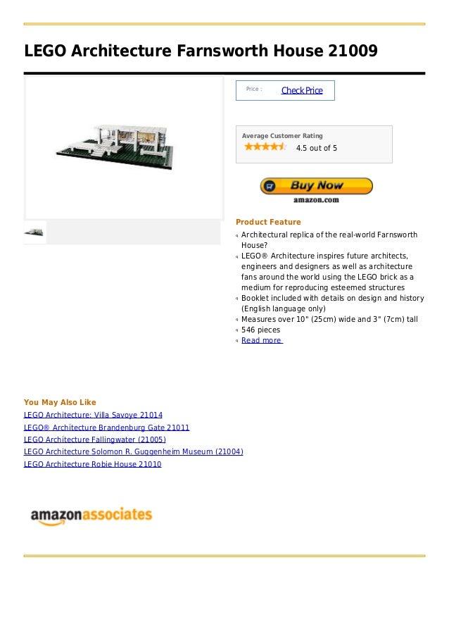 LEGO Architecture Farnsworth House 21009                                                         Price :                  ...