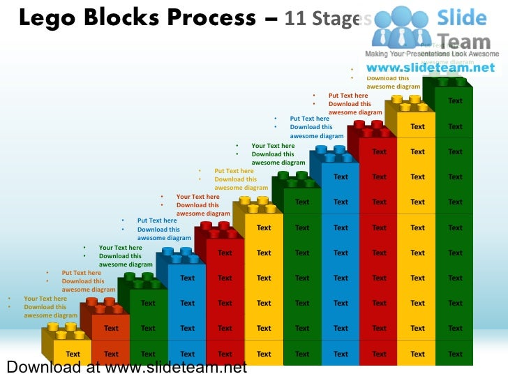 Lego Blocks Process – 11 Stages                                                                                           ...
