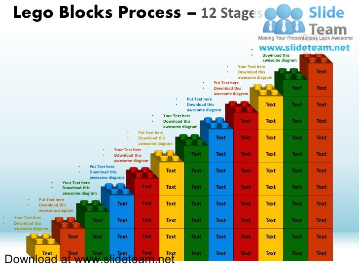 Lego Blocks Process – 12 Stages                                                                                           ...
