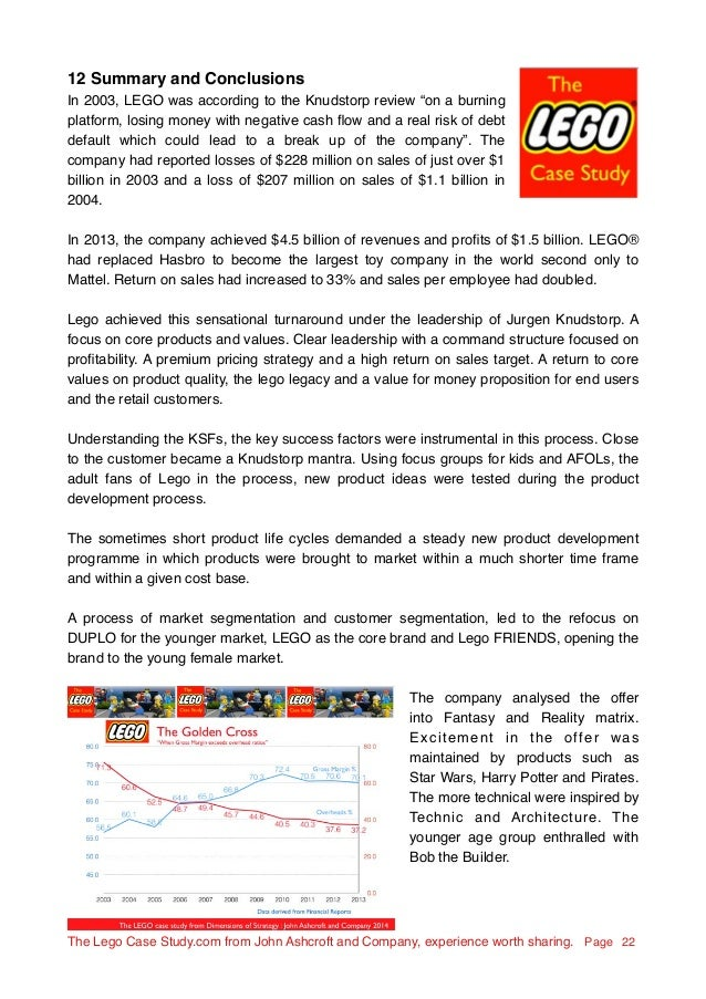 lego case study 2014 Answer to the lego case study 2014 the the alego case studycom from john ashcroft and company, experience worth sharing page 1 contents 1 introduction 2.