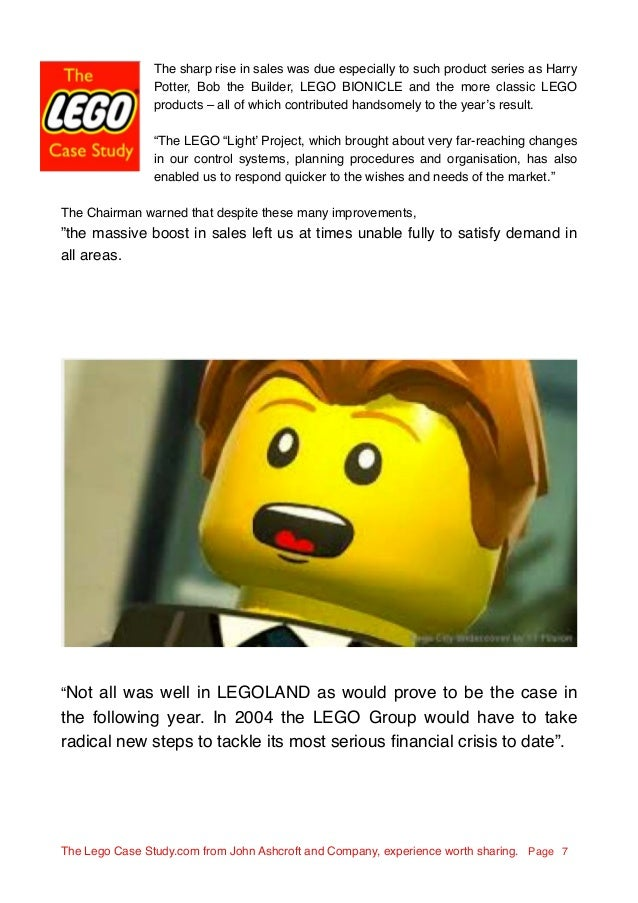 lego case study 2014 Lego case study report 23 july, bloomberg businessweek, viewed 30 september 2014 the lego group case study.