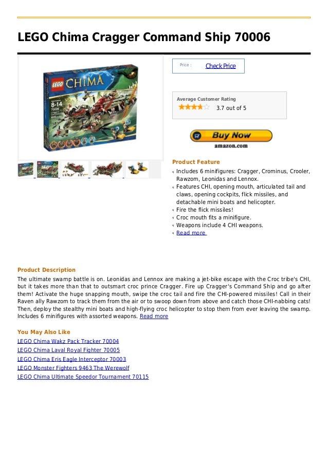LEGO Chima Cragger Command Ship 70006                                                               Price :               ...