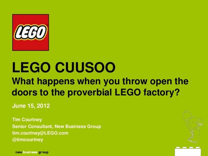 LEGO CUUSOO at Brickworld 2012