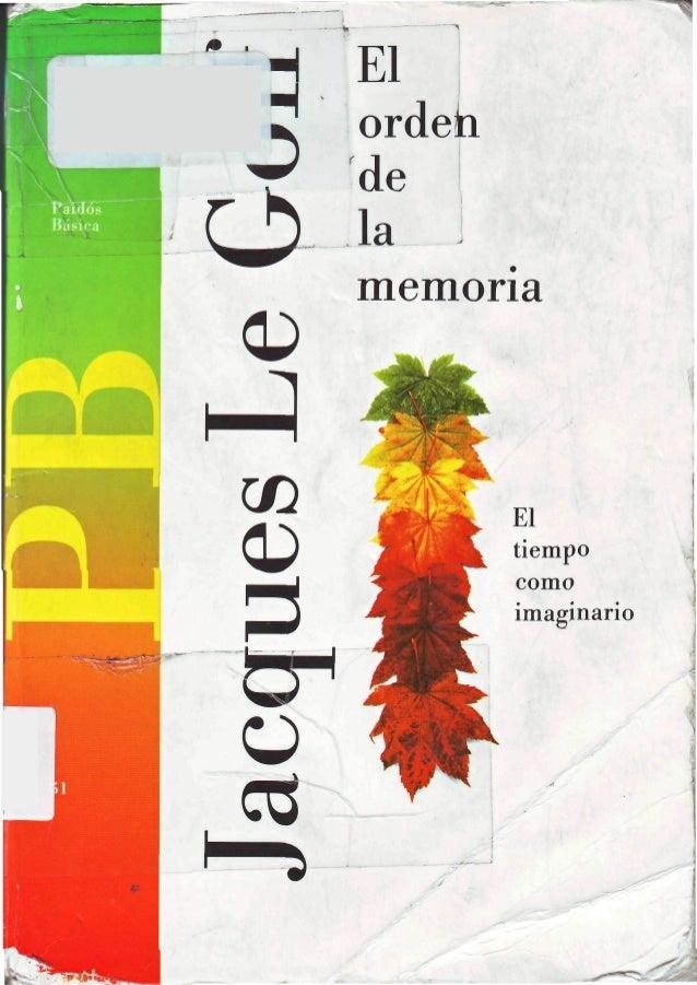 El orden de la memoria
