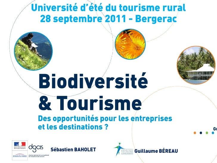 Biodiversité & Tourisme : des opportunités pour les entreprises et les destinations ?