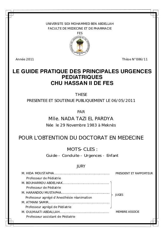 Le guide pratique des principales urgences pédiatriques