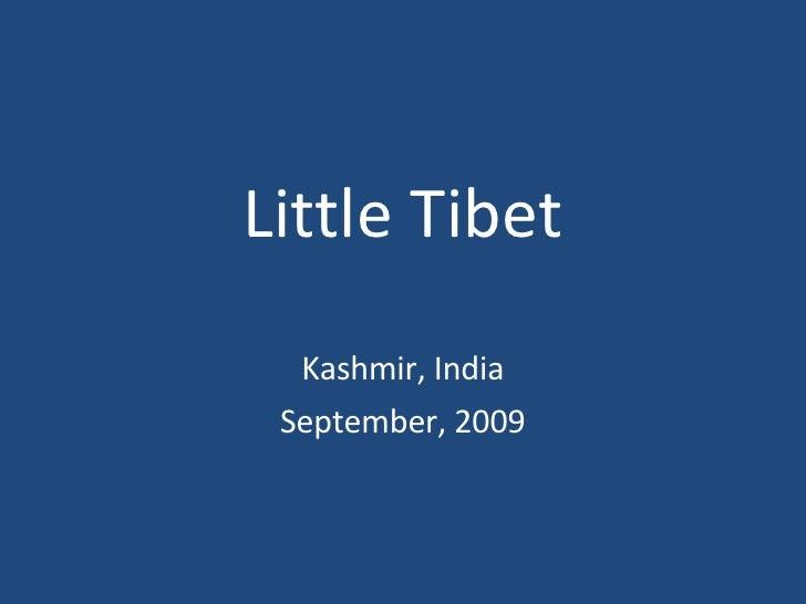 Little Tibet Kashmir, India September, 2009